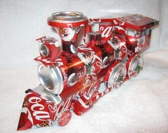 On Sale  Recycled Handmade Coca Cola train