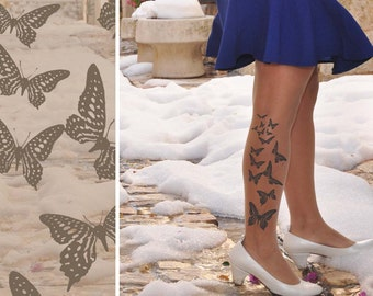 Spring Tights - Tattoo Tights / Pantyhos- BUTTERFLY