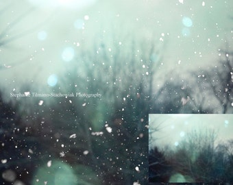 Snow Overlay, Real Snow Overlay, Instant Download