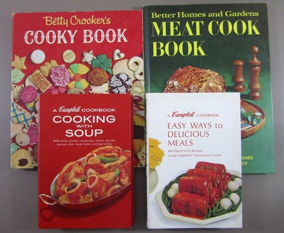 Cookbook Lot Betty Crocker Cooky Bh G Meat 2 Campbells