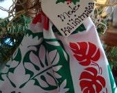 Hawaiian angel, Anela, Mele Kalikimaka, Christmas ornament, Hawaiian quilt design