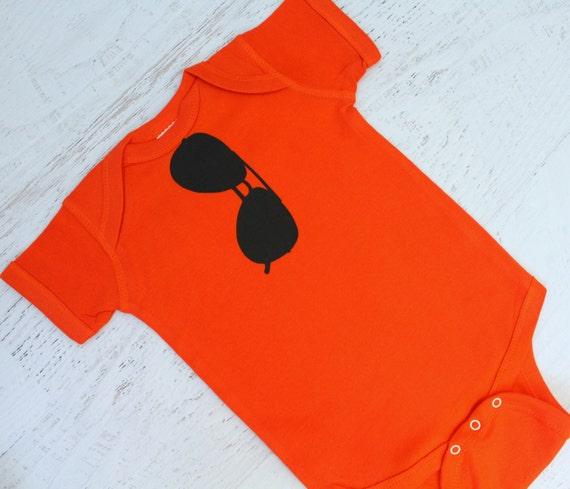 THE ORIGINAL Aviator Sunglasses bodysuit in Orange