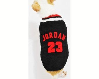 Michael Jordan 23 Dog Shirts  NBA Chicago Bulls Pet Costumes Handmade Crochet XXS Chihuahua Clothes DK983 by Myknitt - Free Shipping