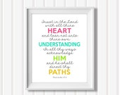 TRUST in the LORD - Proverbs 3:5-6 - Digital File