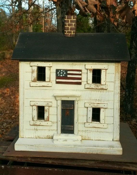 Primitive Birdhouse Americana Birdhouse Americana Rustic