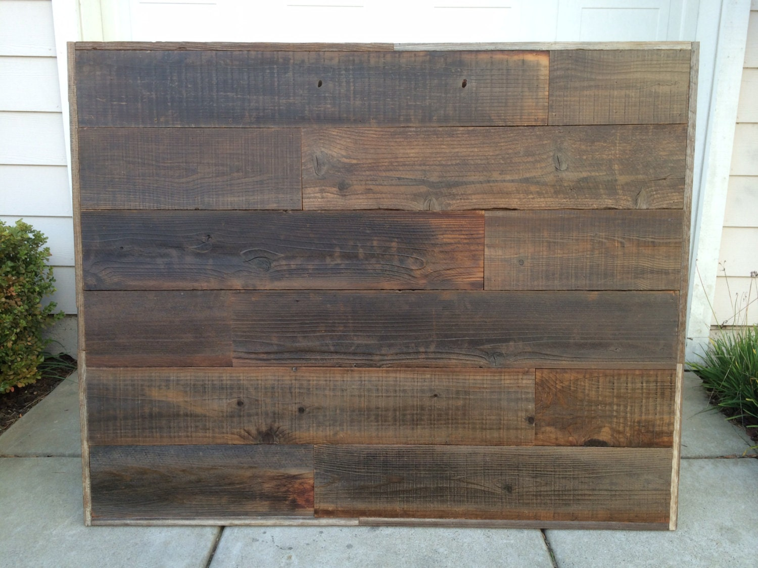 reclaimed wood headboard queen size by rustyboats on etsy. Black Bedroom Furniture Sets. Home Design Ideas