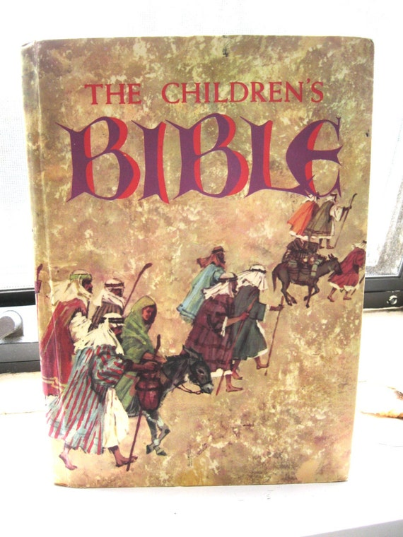 I definitely recall devouring this Golden Press Children's Bible.
