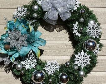 Snowflake Magnolia Silver Christmas