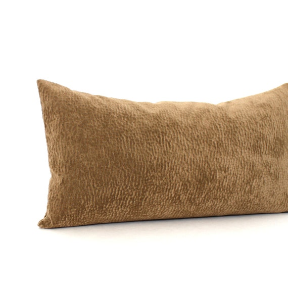 RESERVED FOR ERIN / Lumbar Pillow Cover Brown Faux Suede