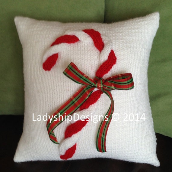 PDF KNITTING PATTERN, Christmas knitting pattern, Christmas pillow cover knit...