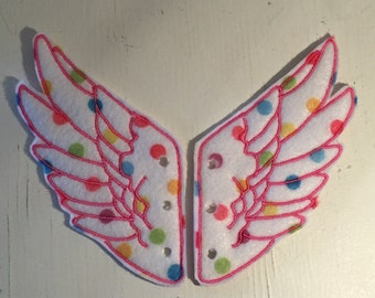 Small Polka Dot shoe accessory Percy Jackson Inspired Shoe Wings shoe accessories
