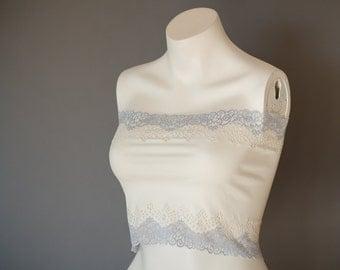 Ivory Lace Bandeau Top Lace Camisole Lingerie Tube Top Strapless Top Lace Bralette Bandeau Bra