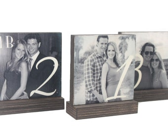 WEDDING TABLE NUMBERS-Wedding Table Decorations-Table Centerpieces-Table Number Frames-Table Decor-Rustic Wooden Decor