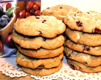 Triple Berry White Chocolate Chip Cookies