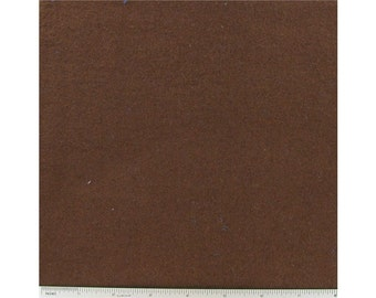 Chocolate Brown 100% Cotton Flannel Fabric by the Yard
