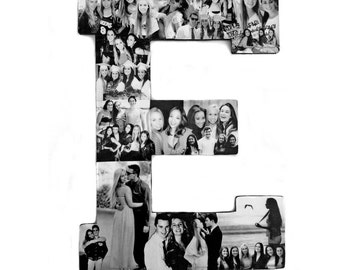 Dorm Room Photo Collage - Custom Photo Collage - Letter Collage - Alphabet Collage