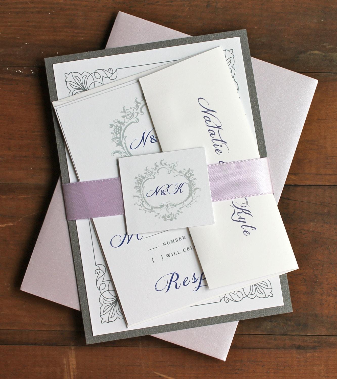 Elegant Purple Wedding Invitations