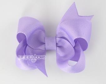 Hair Bow Lavender - girls hair bows - toddler hair bows - baby hair bows - little girl hairbows - 3 inch bows - girls hair clips barrette