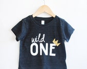 Wild One tee- Child t-shirt - tee - toddler, baby, infant - American Apparel
