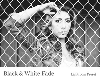 Black & White Fade - Lightroom Preset INSTANT DOWNLOAD