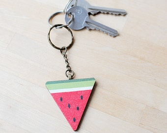 Watermelon Keyring | Fruit Gifts | Housewarming Present