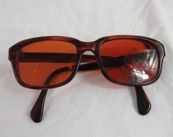 Vintage Rose Colored Prescription Lens Eyeglasses Frames