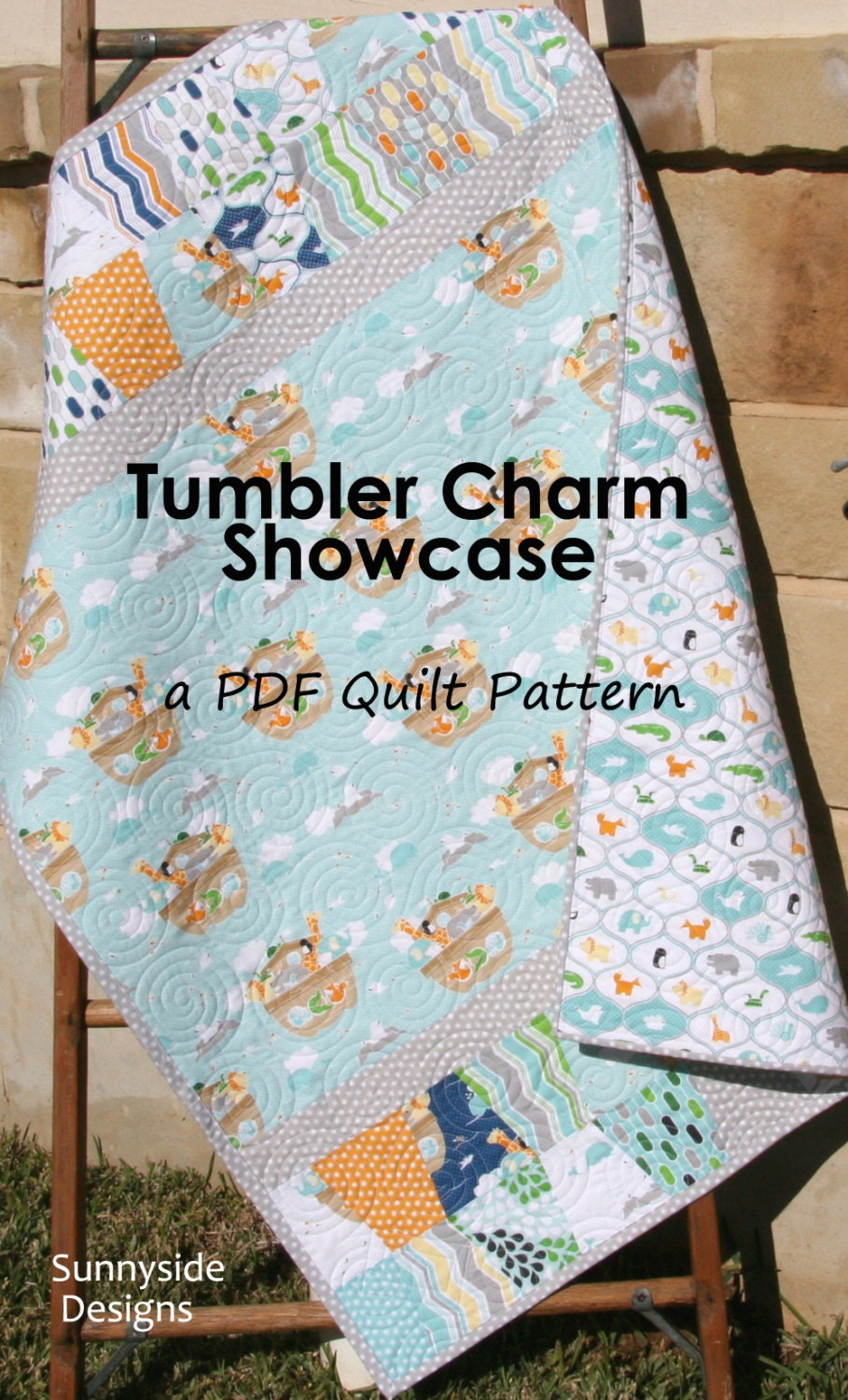 Beginner Quilt Pattern Tumbler Charm Showcase Charm Packs