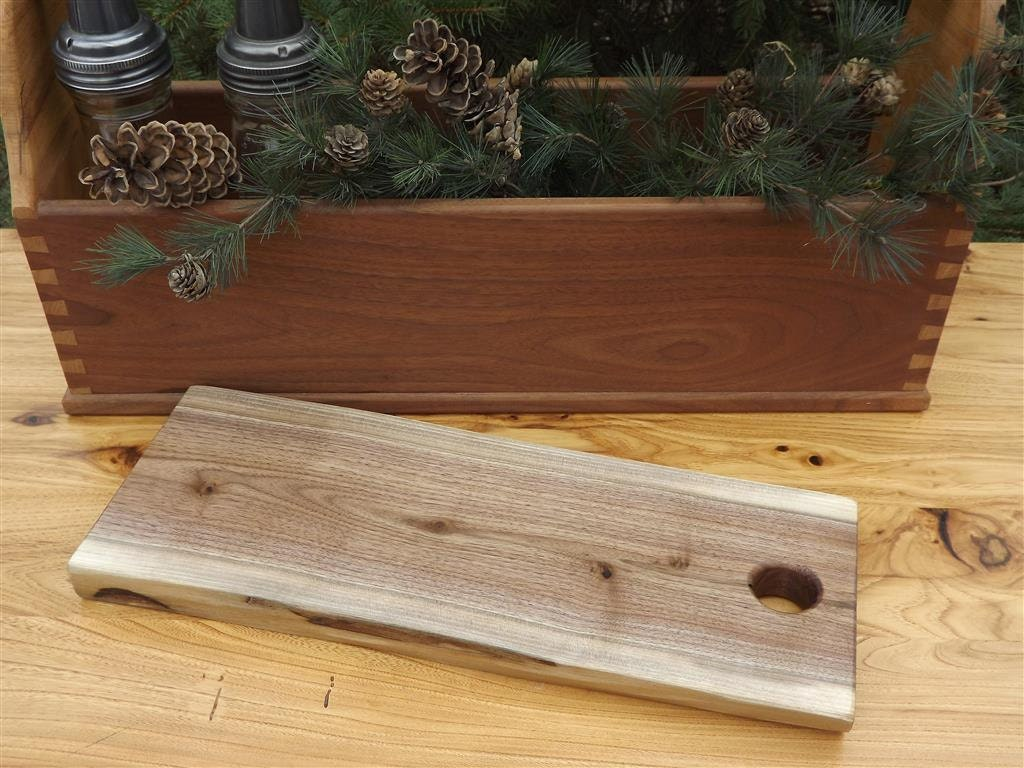 Cutting board live edge reclaimed wood by