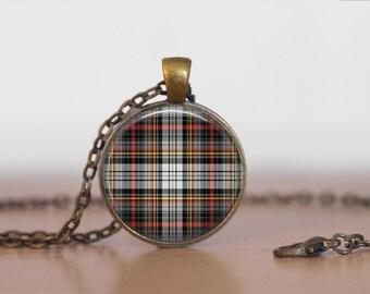 DOUGLAS TARTAN Pendant Necklace / Scottish Tartan Jewelry / Ancestral Jewellery / Douglas Clan /  Family Jewelry / Personalized Gift / boxed