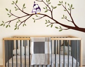 Owls and Branch Wall Decal