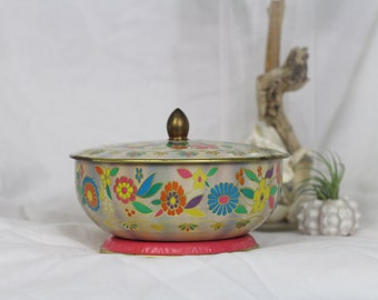 Colorful Metal Bowl/ Container with Lid