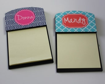 Personalized Gift - Sticky Note Holder - Monogram Notepad - Monogram Gift - Teacher Gift -  Coworker Gift - Graduation gift