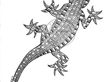Lizard III Art Print