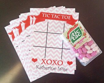 Personalized Valentine Tic Tac Toe Card Printable