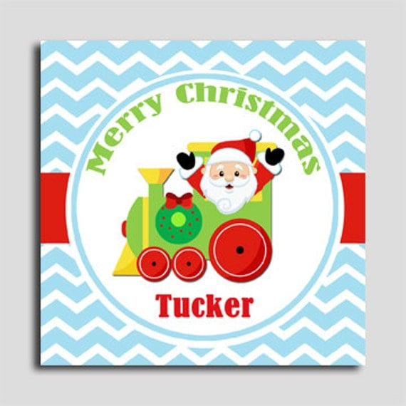 Personalized Christmas Gift Tags: Items Similar To Personalized Santa Train Christmas Gift