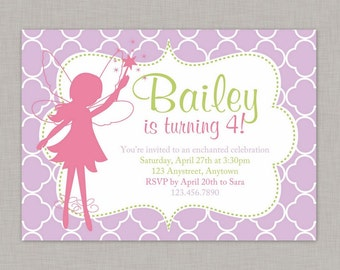 Fairy Invitation, Fairy Birthday Invitation, Fairy Party, Printable
