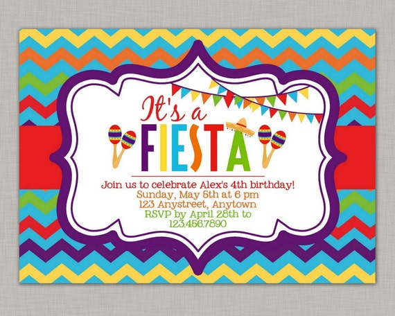 fiesta invitation fiesta birthday invitation fiesta party, Birthday invitations