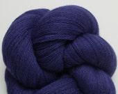 Cobalt Blue Recycled Merino Yarn, 1633 Yards Available, Lace Weight Extra Fine Grade Merino Yarn