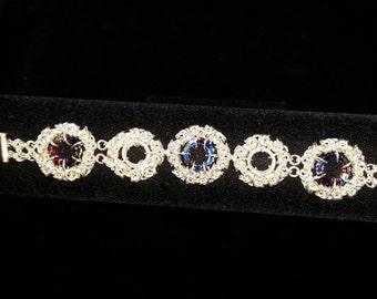 Swarovski Sterling Byzantine Weave Bracelet