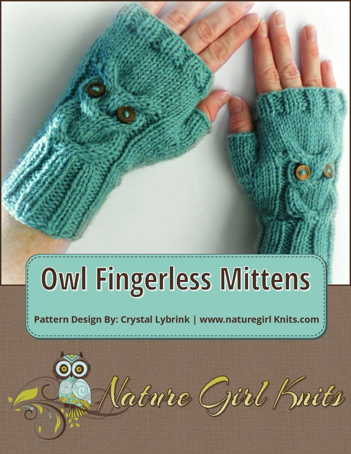 Driving gloves knitting pattern - Knitting Pattern Owl Cable Knit Fingerless Mittens Pdf Digital File Written And Charted Instuctions Instant Download