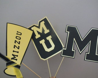 COLLEGE PHOTO BOOTH props     pick your school        Mizzou is displayed here