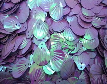 Lavender Sequins-Sea Shells-12x14mm-100 PCS