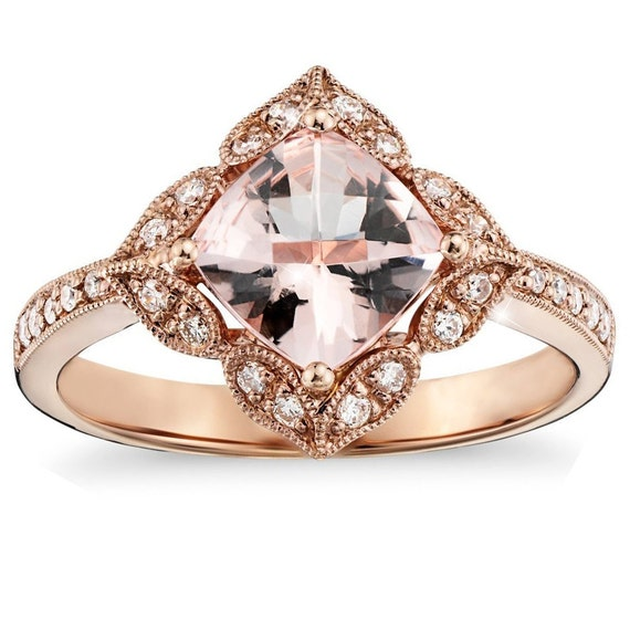 gold ring morganite gold ring antique