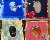 Design Your Own - On the Go Reusable & Washable Toilet Seat Cover w/ Carry Bag - Designed for Ladies