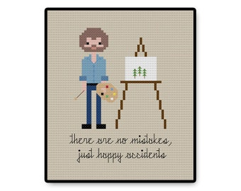 Bob Ross - Cross Stitch PDF Pattern