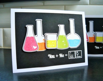Nerdy Anniversary Card, Science I Love You Card, Geeky Valentine's Day Card, Rainbow Card, Chemistry Card