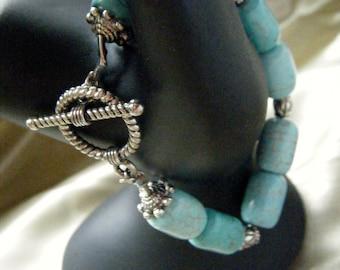 Turquoise Toggle Clasp Bracelet