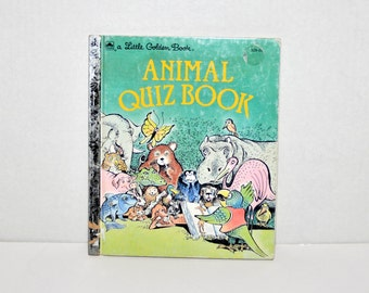 Animal Quiz Book-  A  Little Golden Book -1983 -