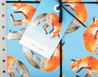 Jumping Fox Eco Wrapping Paper