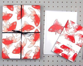 Surprising Gift Wrapping  Etsy Uk With Outstanding Goldfish Eco Wrapping Paper  Blank Inside  Beautifully Illustrated Gifts   Eco Friendly Stationery  Greetings Cards  Made In The Uk With Alluring Bristol University Botanic Gardens Also Secret Garden Wedding In Addition Best British Gardens And Rose Garden Munnar As Well As Lee Garden Cleveleys Additionally Indian Restaurant In Covent Garden From Etsycom With   Outstanding Gift Wrapping  Etsy Uk With Alluring Goldfish Eco Wrapping Paper  Blank Inside  Beautifully Illustrated Gifts   Eco Friendly Stationery  Greetings Cards  Made In The Uk And Surprising Bristol University Botanic Gardens Also Secret Garden Wedding In Addition Best British Gardens From Etsycom